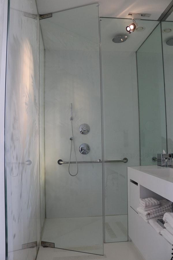 A hotel shower