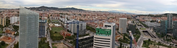 An aerial view of a Barcelona