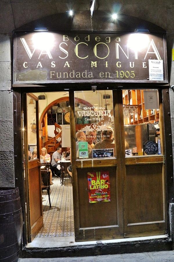 exterior of a restaurant called Bodega Vasconia