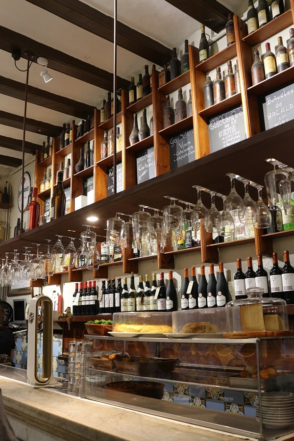 bar area inside a restaurant