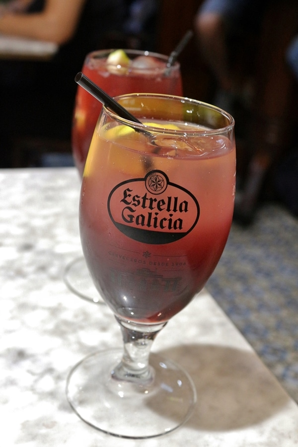 A glass of red sangria