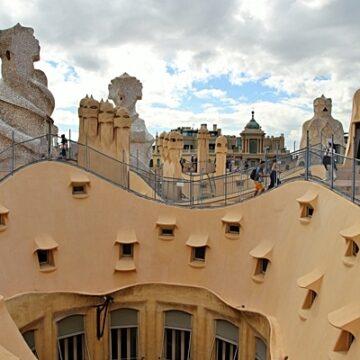 Rooftop of La Pedrera in Barcelona, Spain