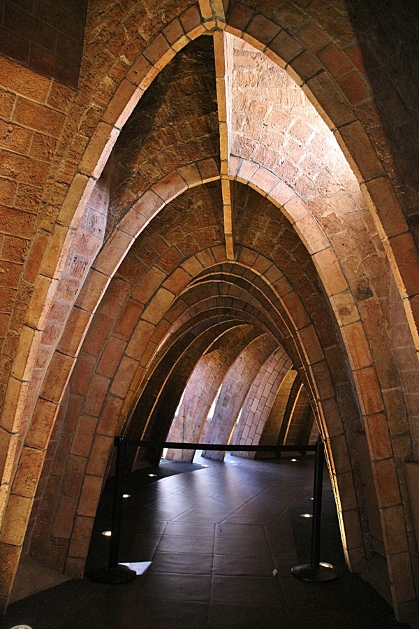 a brick archway that resembles an rib cage