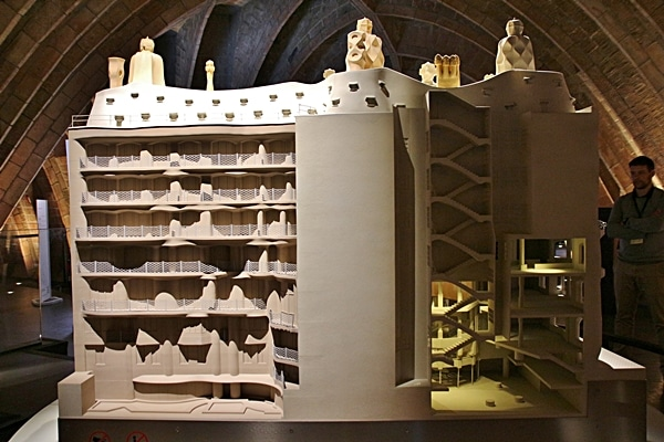 cross section of a model of Casa Milà