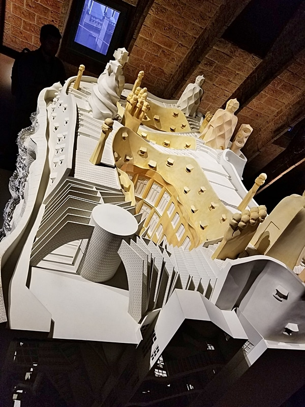 overhead view of a model of Casa Milà