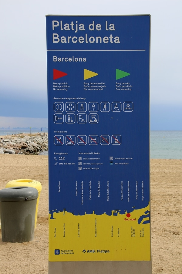 closeup of a sign on a beach