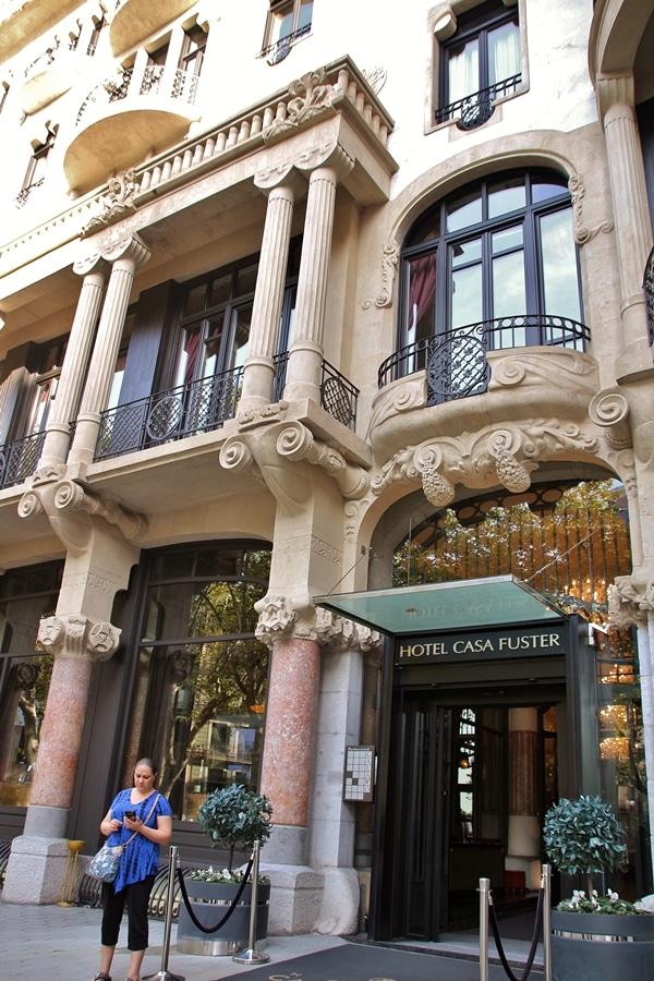 exterior of a Barcelona hotel