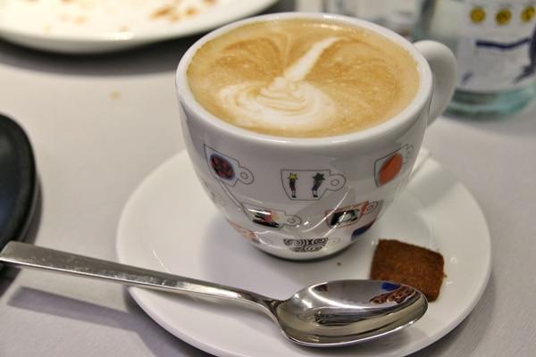 closeup of a cappuccino