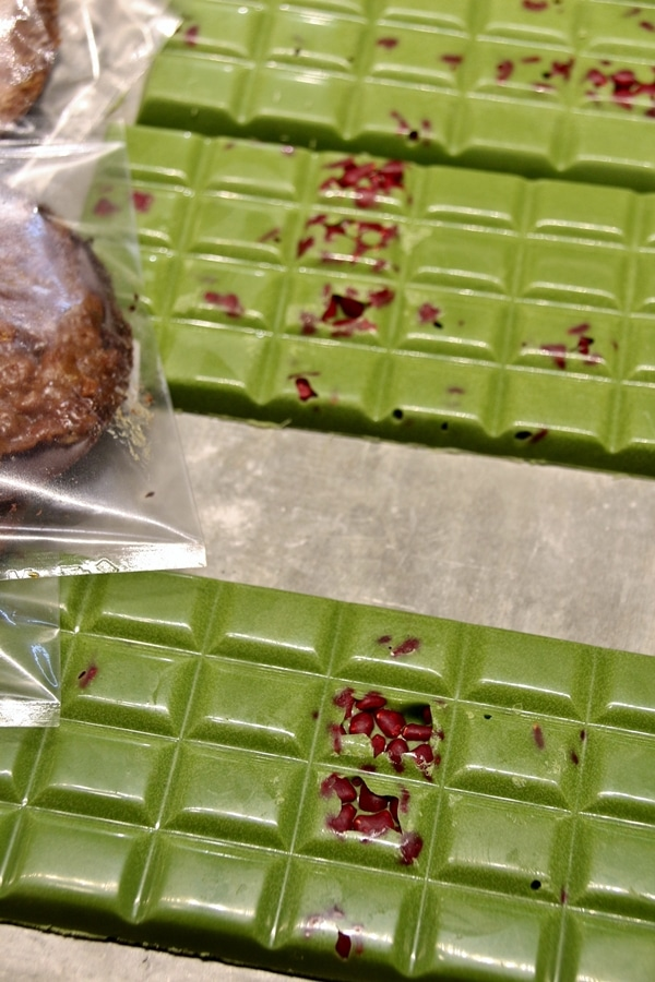 bars of green chocolate