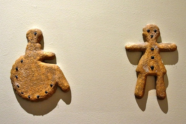 gingerbread cookie themed bathroom signs