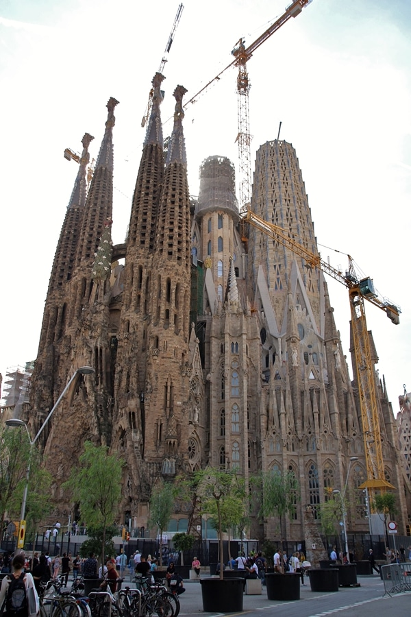 exterior of Sagrada Família church in Barcelona