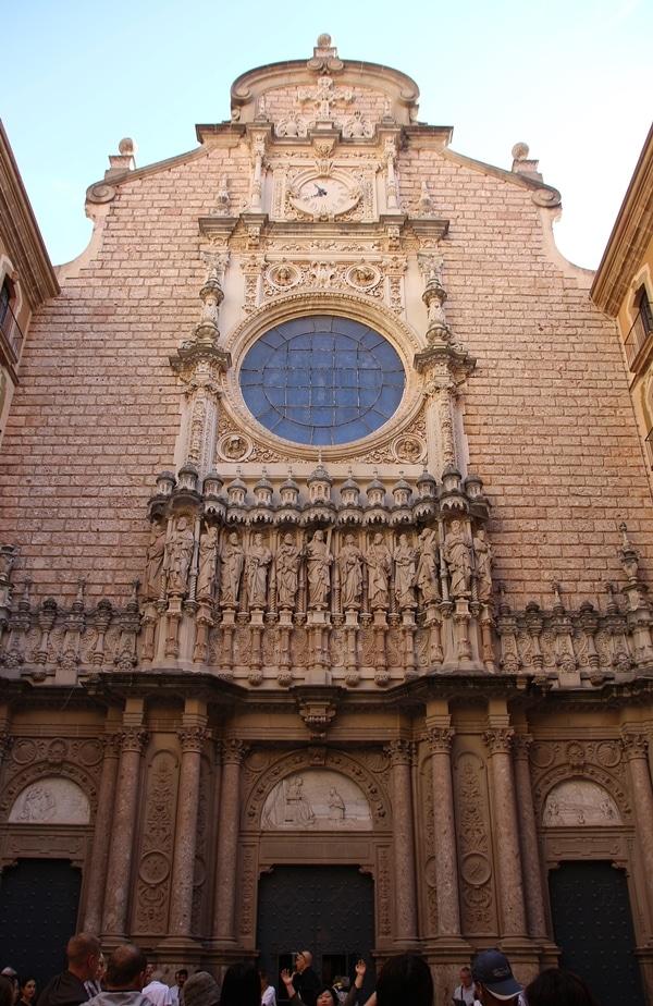 the facade of a monastery