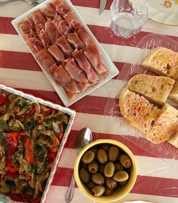 Selection of homemade Spanish tapas