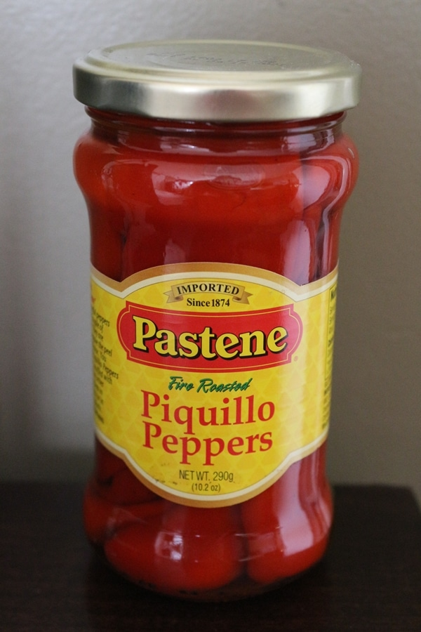 Pastene jar of piquillo peppers