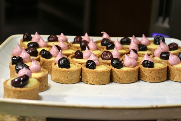 small tarts on a serving dish