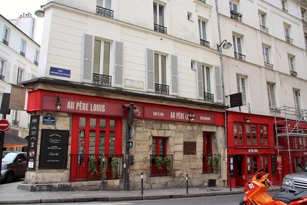 a restaurant on a street corner
