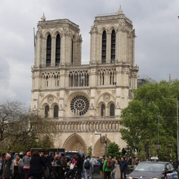 Notre Dame Cathedral in Paris, France after fire