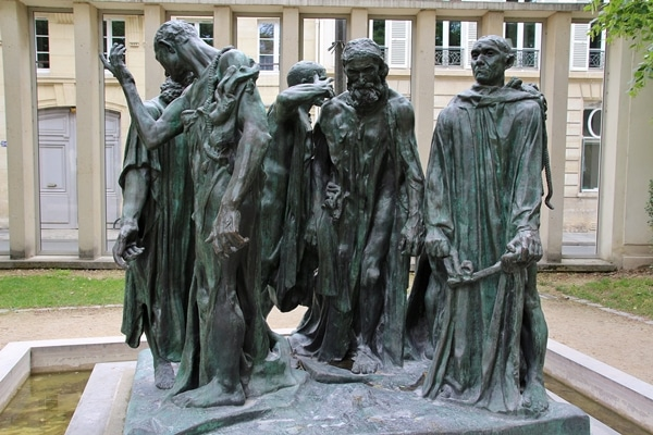 The Burghers of Calais sculptures at the Rodin Museum