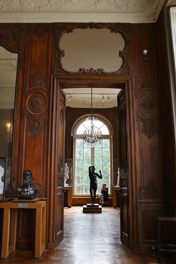 a grand room inside a museum