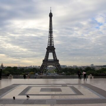View of Eiffel Tower from Trocadero