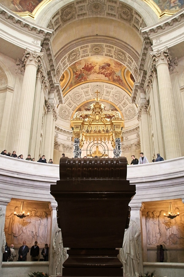 a view of Napoleon\'s tomb