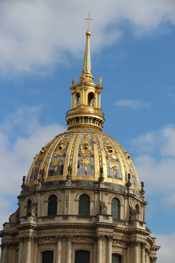 the giant gold dome of Les Invalides in Paris