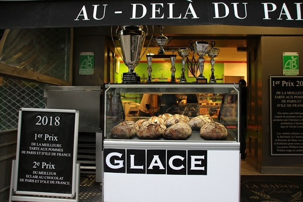 the exterior of a French bakery