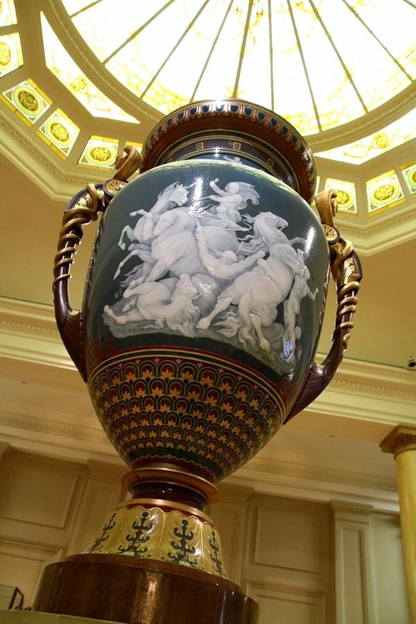 an ornately painted vase