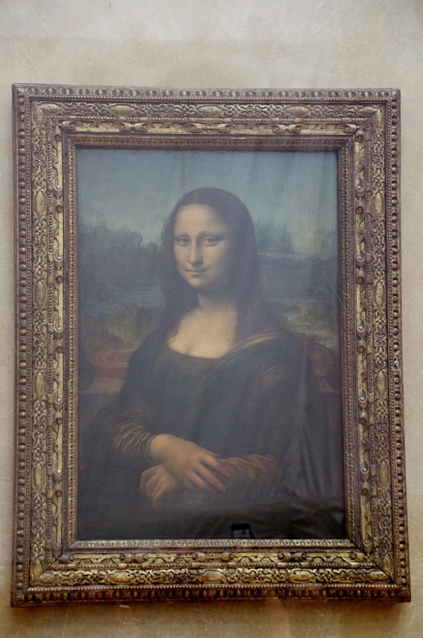 the Mona Lisa painting