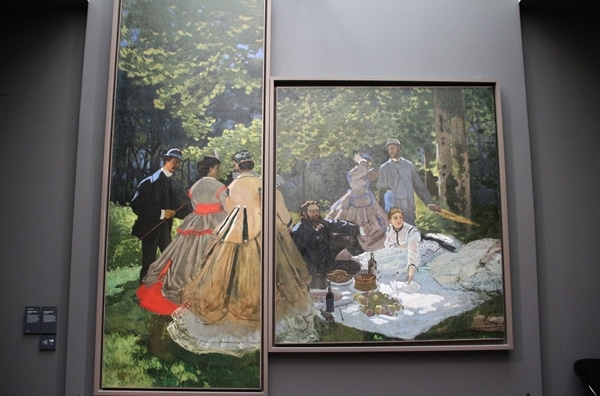 a painting of a picnic