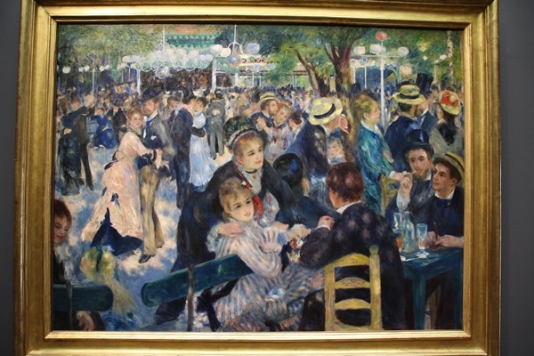 a painting of a crowd of people
