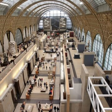 Interior of Musee d'Orsay in Paris, France