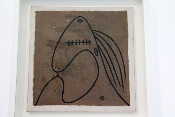 a Picasso drawing in a museum