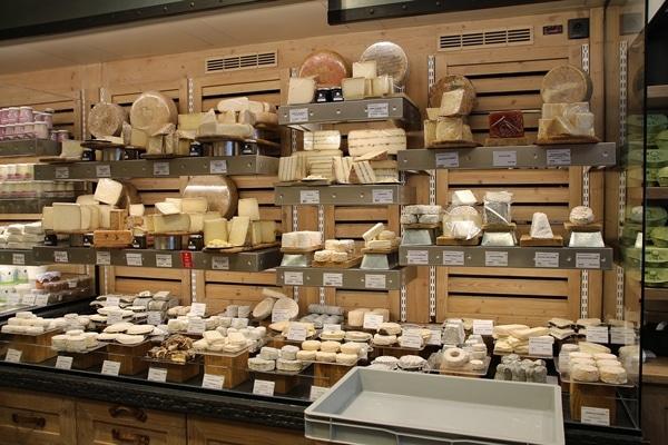 interior of a cheese shop