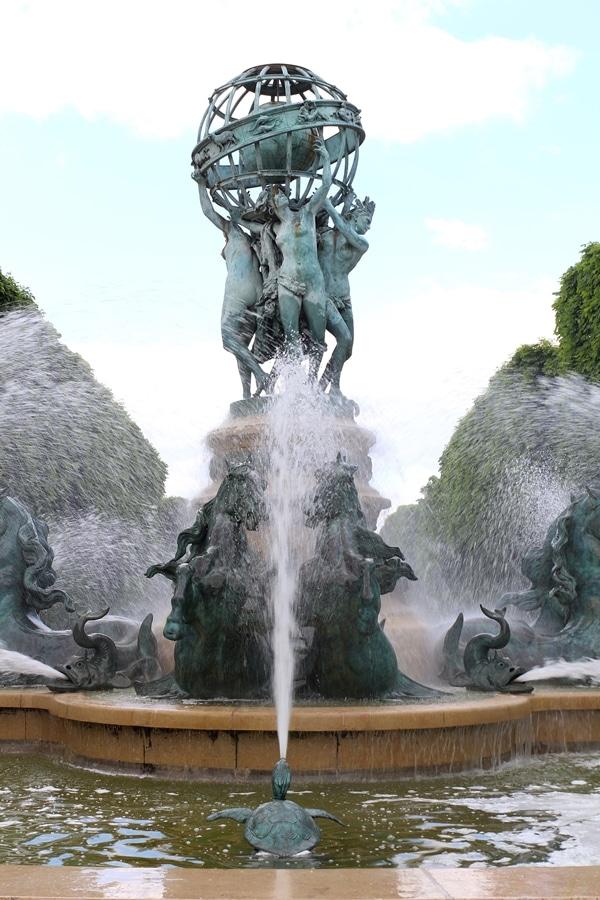 closeup of a fountain