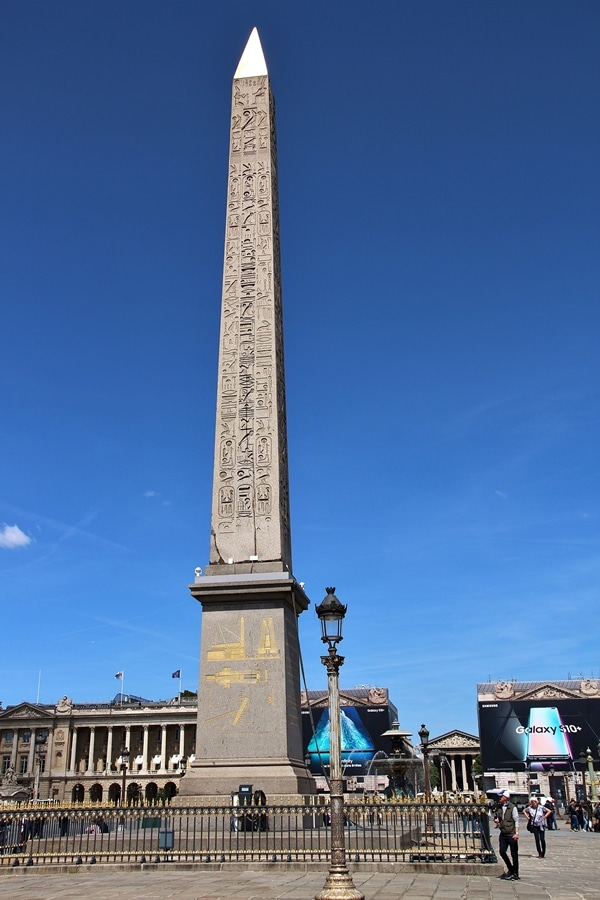 an obelisk in a Parisian square