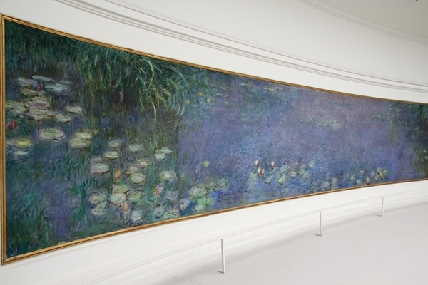 a large painting of waterlilies in the Musée de l\'Orangerie