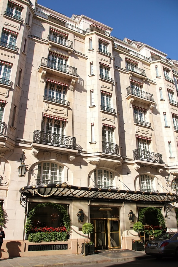 exterior of a fancy Parisian hotel