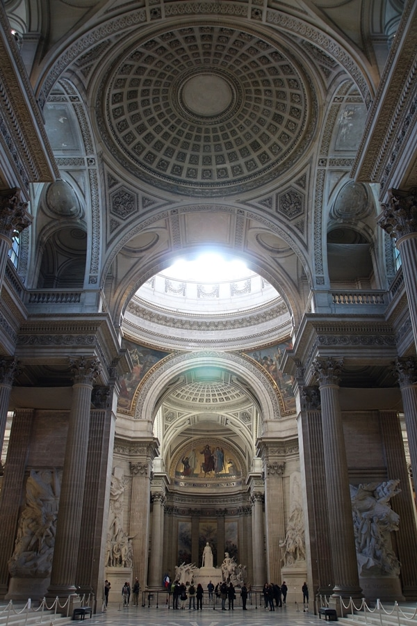 interior of a very large church with a big dome