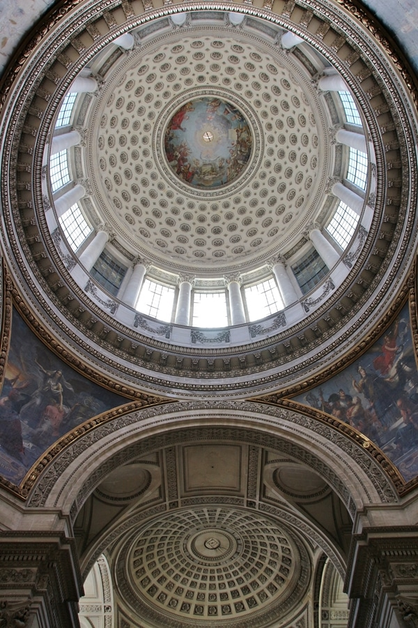 interior view of a large dome in a church