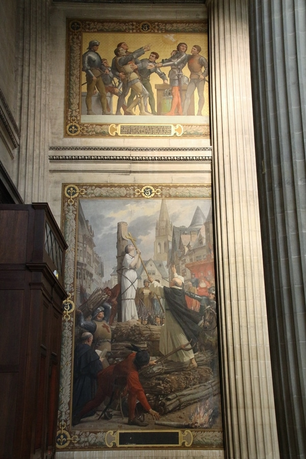 religious paintings in a church