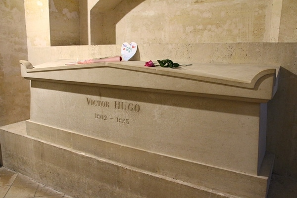 Victor Hugo\'s grave in a crypt