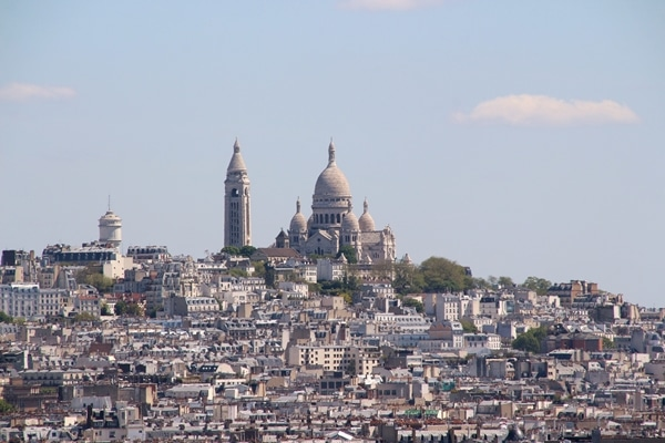 view of Sacré-Cœur from the Arc de Triomphe