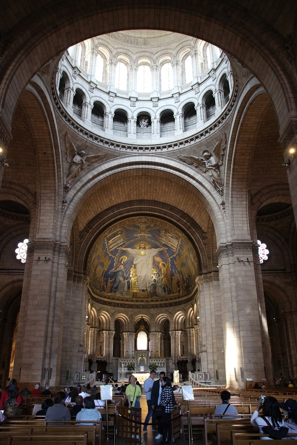 church altar under a large dome