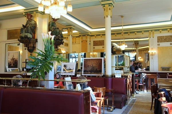 interior of a French bistro