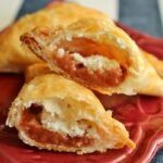 Cuban pastelitos (puff pastry turnovers) with guava and cream cheese