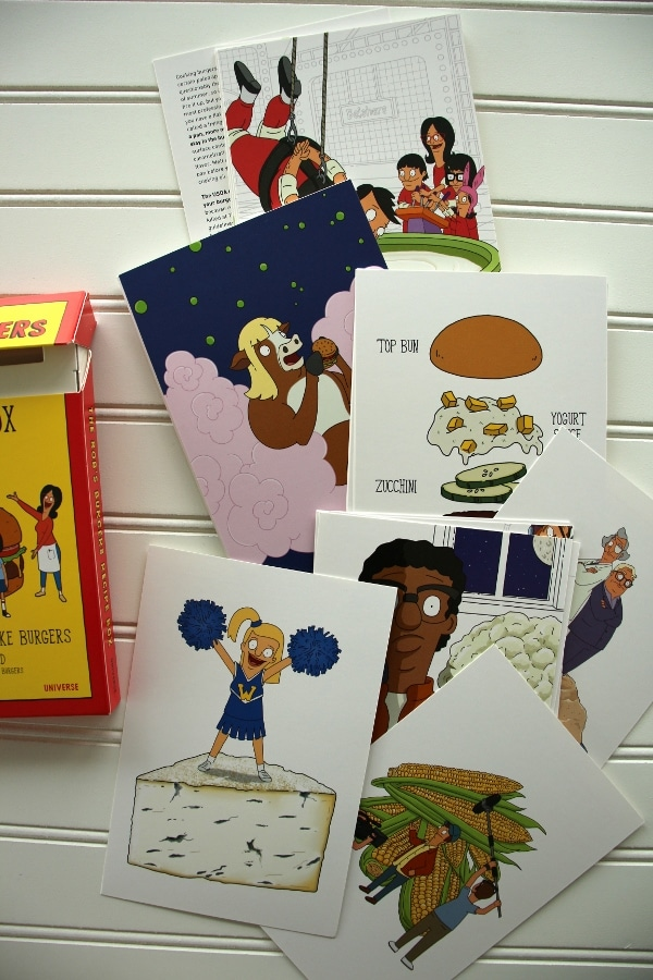 A bunch of recipe cards on a white surface