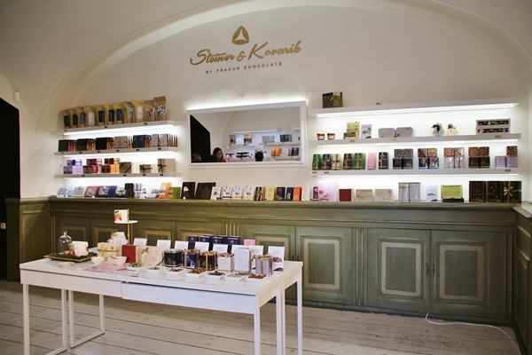 the interior of a chocolate shop