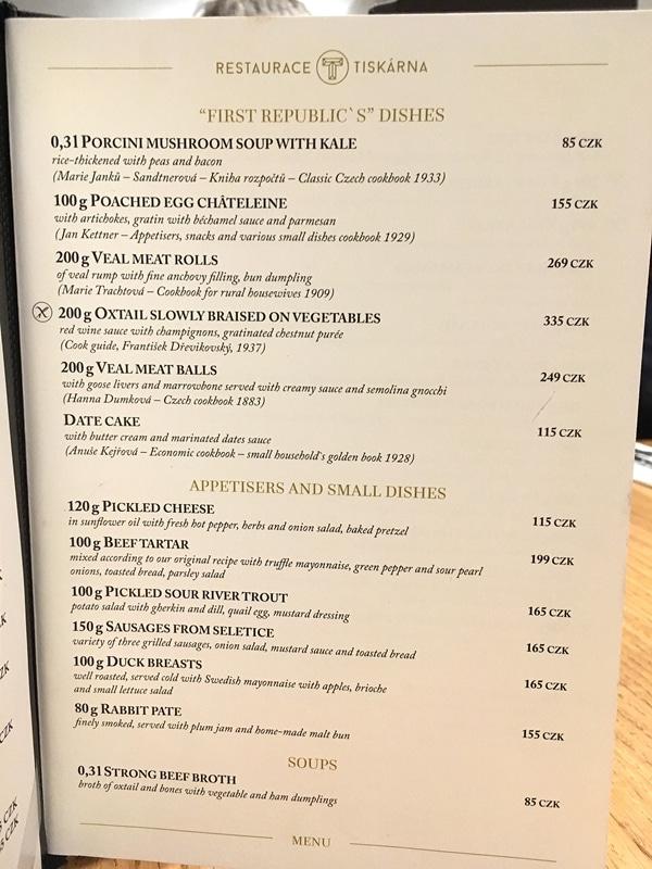 closeup of a restaurant menu