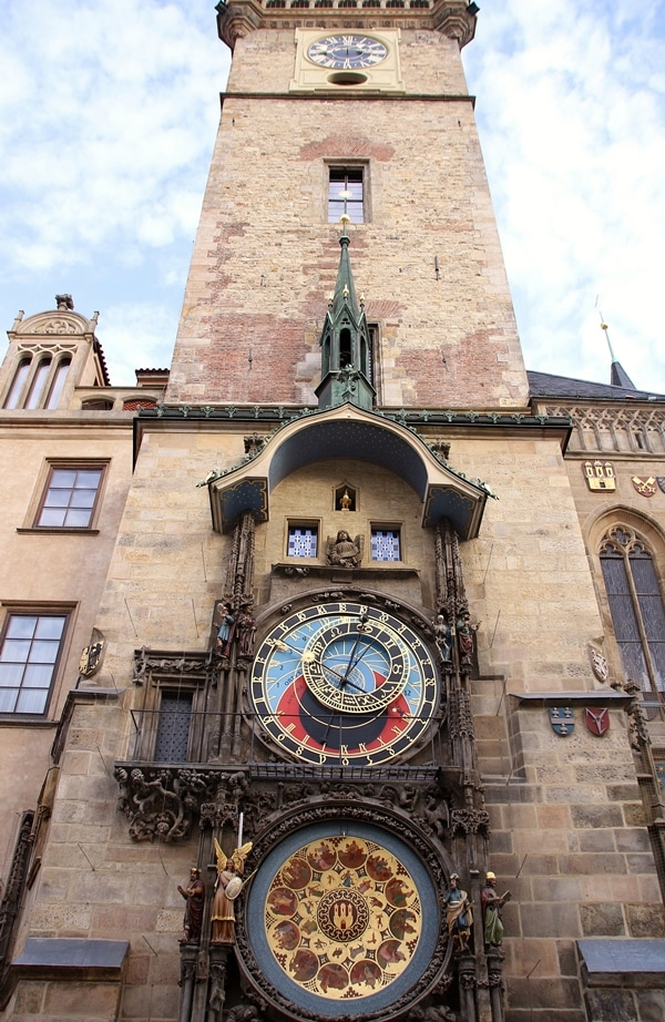 view of the Prague Astronomical Clock Tower